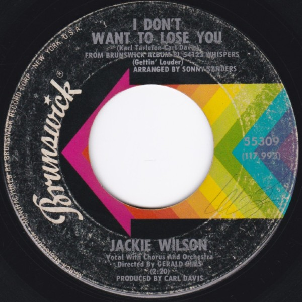 JACKIE WILSON I DONT WANT TO LOSE YOU