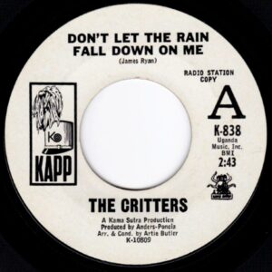 DONT LET THE RAIN FALL DOWN ON ME